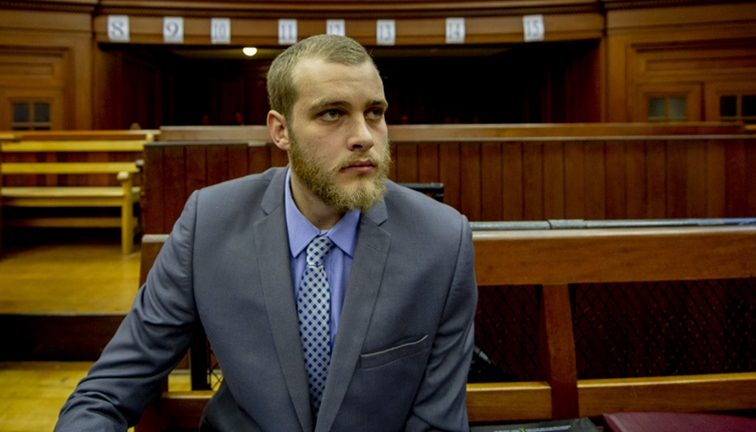 Henri van Breda sitting in court