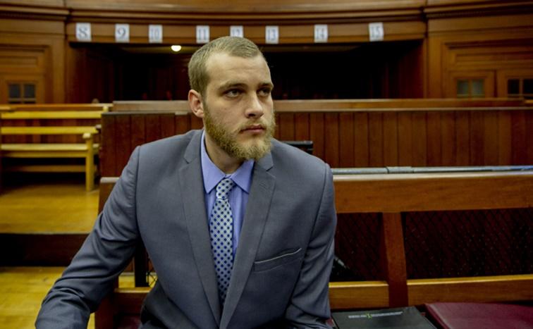 Henri van Breda sitting in court