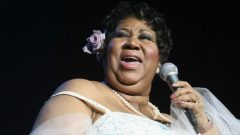 Singer Aretha Franklin singing
