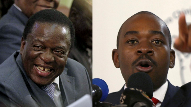 Emmerson Mnagagwa (left)_and Nelson Chamisa (Right)