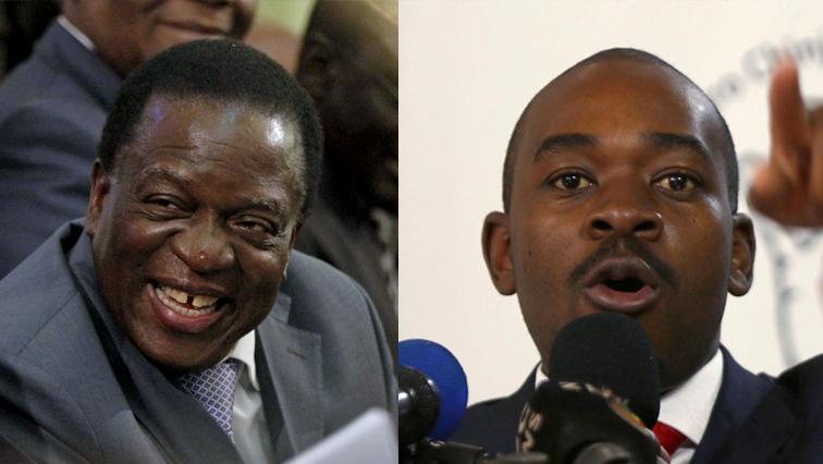 Emmerson Mnangagwa and Nelson Chamisa