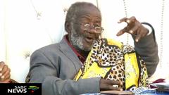 Credo Mutwa looking cheerful at his birthday celebration