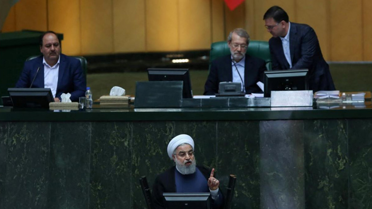 Hassan Rouhani speaking