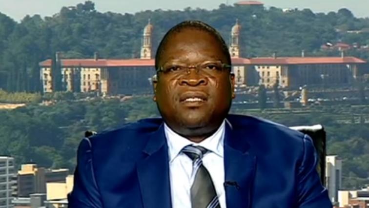 Jonas Makwakwa speakung to SABC