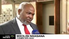 Mxolisi Nxasana speaking to the SABC
