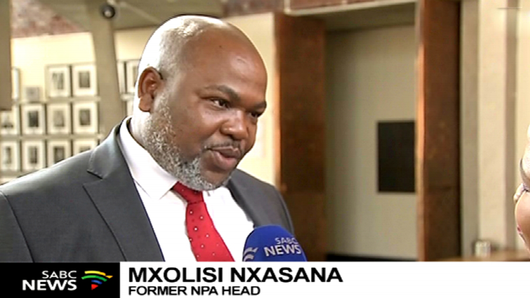Mxolisi Nxasana speaking to the SABC