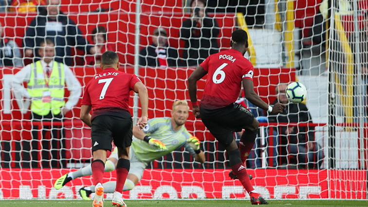 Paul Pogba dispatched his shot into the top corner .