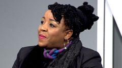 Prudence Moilwa speaking on Morning Live