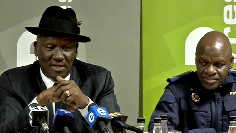 Bheki Cele and Khehla Sitole