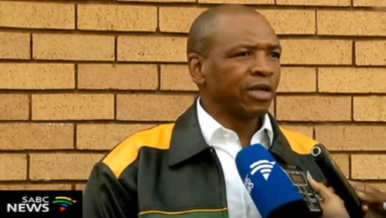 Former North West premier Supra Mahumapelo talking