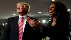 Donald Trump and Omarosa Manigault.