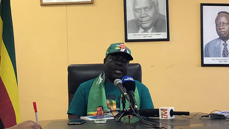 Zanu-PF official during a briefing
