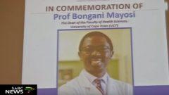 Prof Bongani Mayosi smiling