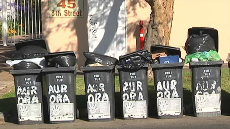 Johannesburg residents have to separate waste and put it into plastics.