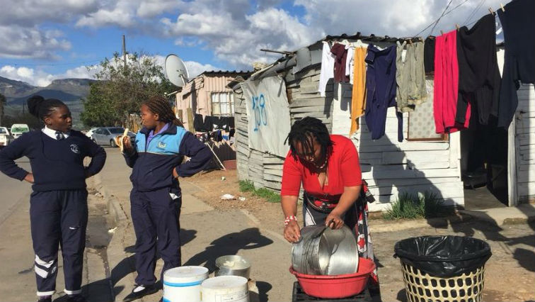 Residents of Thembani Square demand proper sanitation, access to water, skills development and jobs.