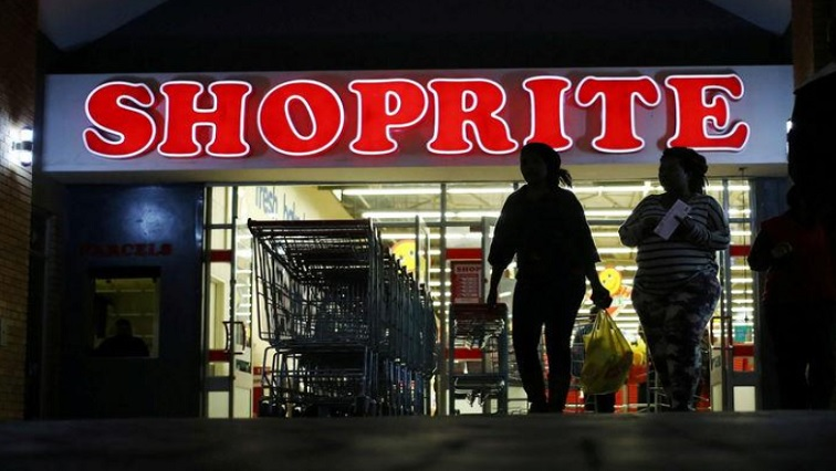 Shoppers leaving a a Shoprite store