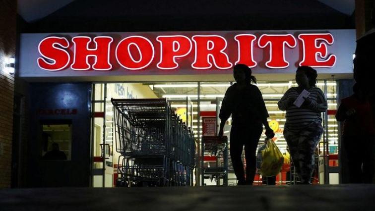 Shoppers leaving a a Shoprite store