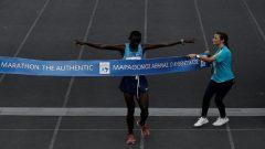 Samuel Kalalei winning in Athens