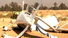 File photo of a crashed helicopter