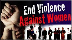 End Violence Against women poster