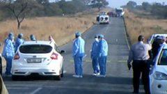The scene of a cash in transit heist