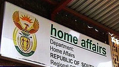 Home Affairs sign