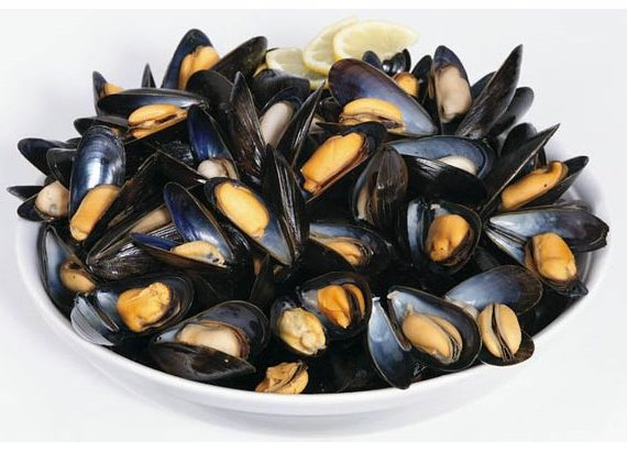 Mussels in a dish