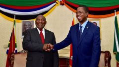 SA President Cyril Ramaphosa and Zambian president Edgar Lungu