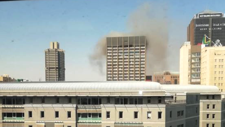 Johannesburg building on fire