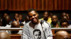 Dlamini smiling in court