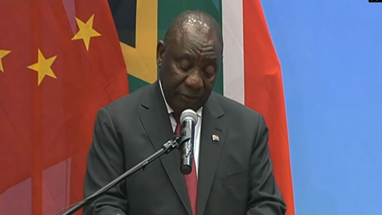 President Cyril Ramaphosa speaking at the Forum