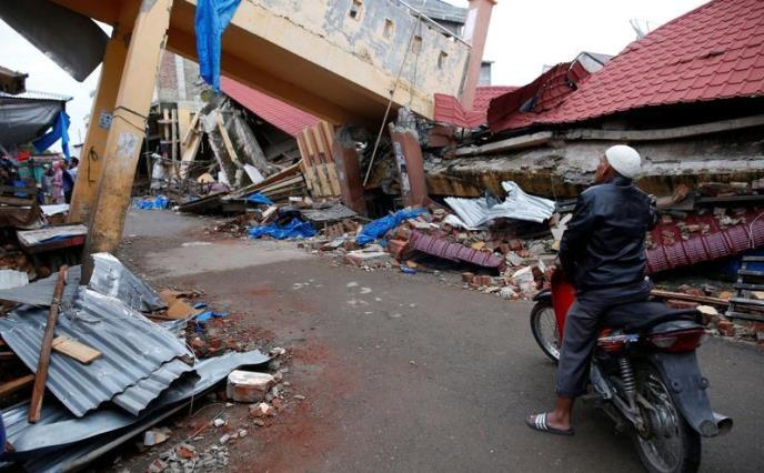 Infrastructure destroyed in the earthquake