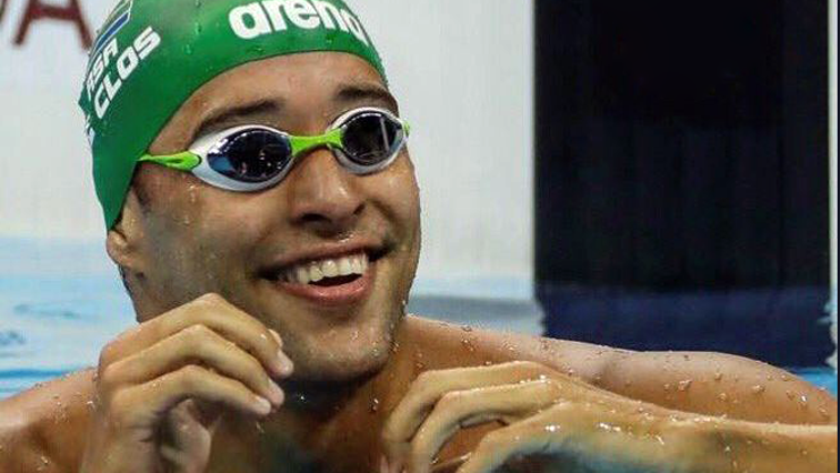 Chad le Clos smiling after a swim