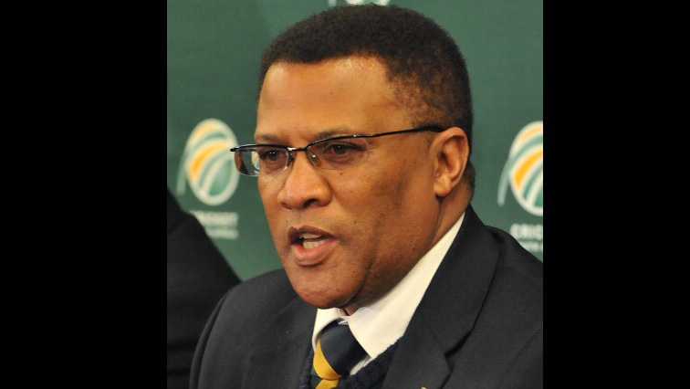 United Cricket Club's chairperson, Gerald Majola mouth open.