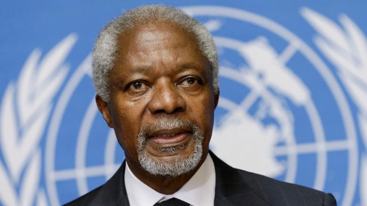 Kofi Annan passed away last month after a short illness at the age of 80.