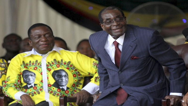 Mnangagwa and Mugabe in happier times