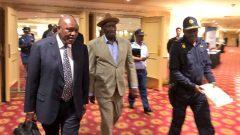 Irvin Khoza and Bheki Cele walking