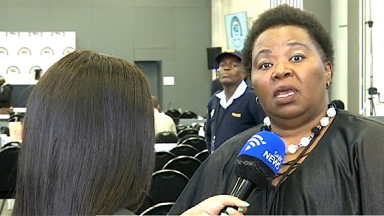 Phumla Williams speaking to the SABC