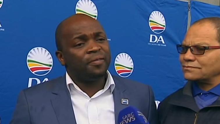 DA's Gauteng premier candidate, Solly Msimanga