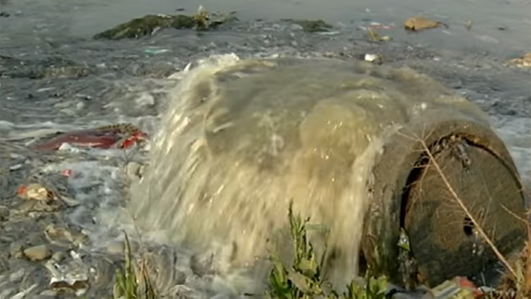 Picture of the polluted water