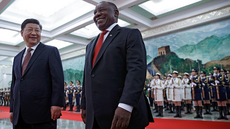 Xi Jingping and Cyril Ramaphosa