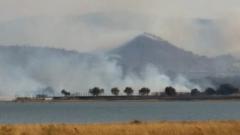 Part of the Pilanesberg wild fire