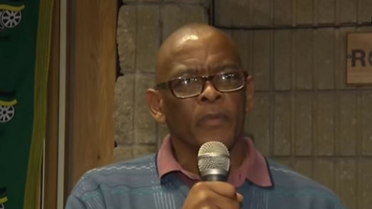 AceMagashule in Bloemfontein