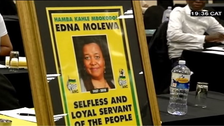 Edna Molewa tribute poster