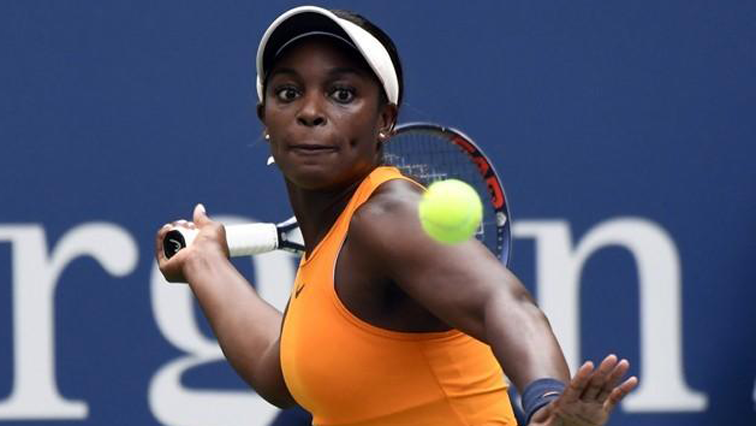 Sloane Stephens playing a shot.