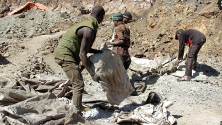 Three artisan miners