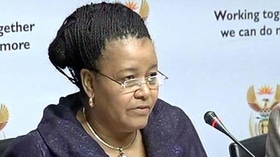 Environmental Affairs Minister Edna Molewa