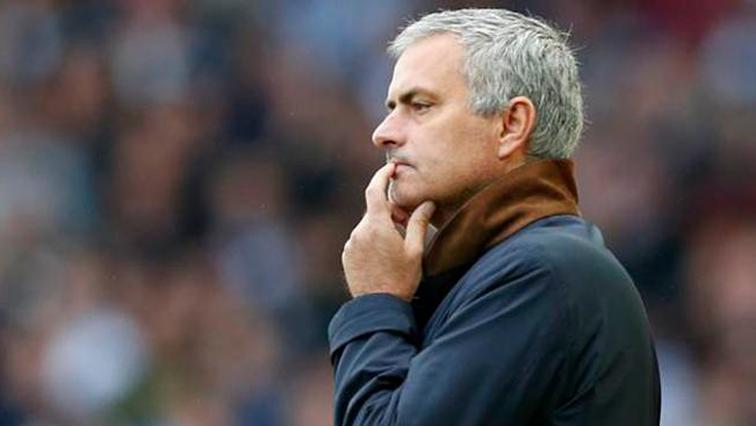 Jose Mourinho biting his finger