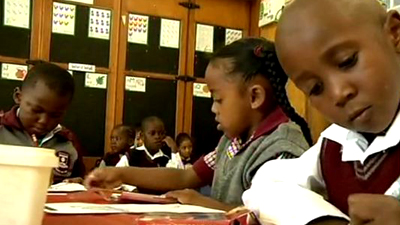 Learners at school.