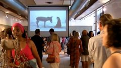 People at the exhibition